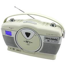 RCD1350BE, FM, Lettore, CD, CD-R, CD-RW, CA / Batteria, LCD, SD