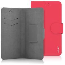 """Classic Detachable Custodia Universale a Libro per Dispositivi fino a 5"""" Colore Rosso"""