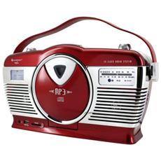 RCD1350RO, FM, Lettore, CD, CD-R, CD-RW, CA / Batteria, LCD, SD