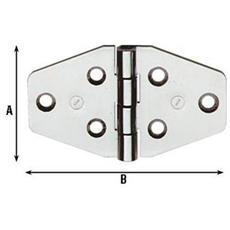 CERNIERA per MOBILI NAUTICI in acciaio INOX 40X70MM (854 IN) 24 Pezzi