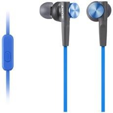 Auricolari con Microfono Cablato Colore Nero e Blu