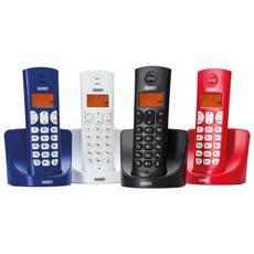 Telefono Cordless Dect Gap Display Lcd 14 Segmenti Retroilluminato Falco Rosso