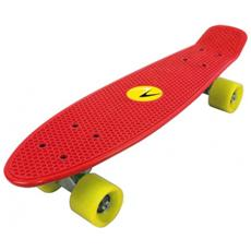 Skateboard Freedom Rosso Con Ruote Gialle Classe A 57x15,2 Cm