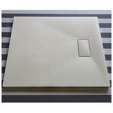 Piatto Doccia Effetto Pietra 80x100 Euclide Beige Spessore 2,6 Cm