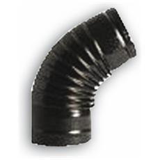 Gomito a 90° per Tubi Stufa Ø 13 cm colore Nero Opaco in lamiera porcellanata