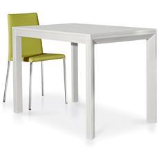 Tavolo claire 110x70 allungabile bianco frassinato
