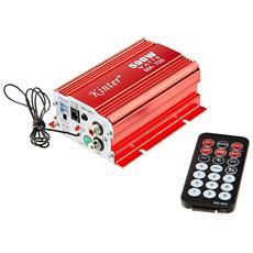 Amplificatore Stereo Ma700 2 Canali 12v Dc Usb Fm Audio Speaker Con Telecomando
