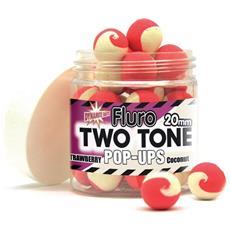 Pop Ups Fluoro Two Tone Strawberry-coconut 15 Mm Unica Bianco Rosso