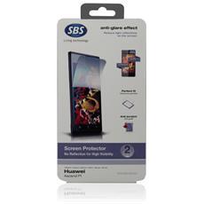 TESCREEASP1A2 SMARTPHONE Pellicola protettiva effetto anti-riflesso, 2 pezzi per Huawei Ascend P1