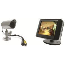 123041 Kit di videosorveglianza filare con monitor LCD 3,5