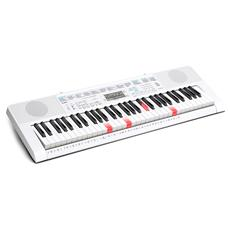 LK-247 Tastiera 61 tasti luminosi Colore Bianco