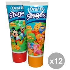 Set 12 Dentifricio Disney Frutta 75 Ml. Prodotti Per Il Viso
