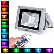Faro Faretto A Led Multicolor Rgb 10w Con Telecomando Art. Rgbled