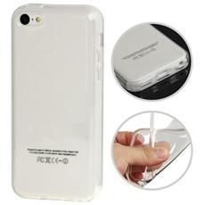 Custodia Tpu Per Iphone 5c Bianco Trasparente