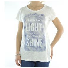 Maxi T-shirt Donna Fiammata Bianco Blu L