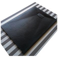 Piatto Doccia Effetto Pietra 80x120 Euclide Nero Spessore 2,6 Cm