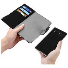 Custodia Galaxy Note 8 Portafoglio Portacarte Cover Amovibile Forcell - Nero