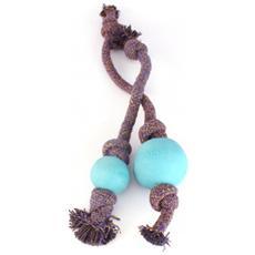 Gioco palla con corda Blu Medium: 50 cm