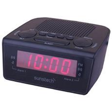 FRD18 Orologio Digitale Nero radio