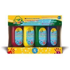 Colora Mini Kids 4 Tempere a Dita Lavabili 3239