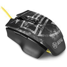 Mouse Shark Zone M50 Laser 7 Tasti 8200 DPI Colore Nero / Giallo