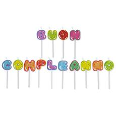 Set 14 Candeline Picks Maxi 8 Cm Cupcake