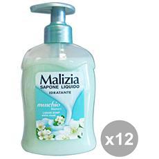 Set 12 Sapone Liquido Muschio Bianco 300 Ml. Saponi E Cosmetici
