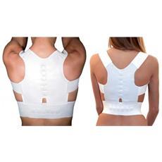 Supporto Tutore A Fascia Con 12 Magneti Unisex Correzione Postura Schiena Spalle - S / m