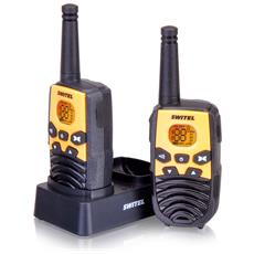 WTC2700B Kit Ricetrasmittenti PMR-Walkie&Talkie 446Mhz 8 canali portata 6km con batterie ricaricabili nero / giallo