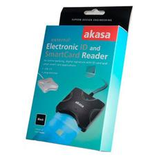 External Smart Card Read, USB 2.0, 65 x 60 x 18 mm, Nero, Windows 2000 / XP / VISTA / 7 Mac OS X