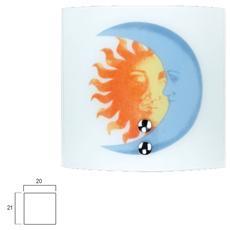 I-236/00700 - Applique Sole Luna Sole / Luna 60 Watt cm 20 x 21