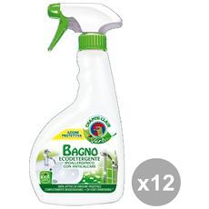 Set 12 Bagno Vert Trigger 500 Ml. Ecodetergente Detergent