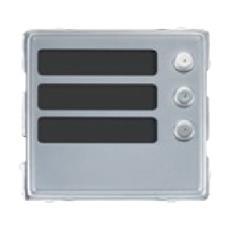 1148/13 - Modulo 3 Tasti Pulsanti Alluminio Sinthesi S2