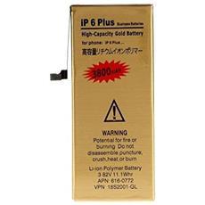 Batteria Potenziata Maggiorata Per Apple Iphone 6 Plus 4680 Mah Gold Oro