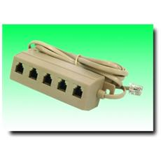 AdattatoreTtelefonico 6P / 4C / 5 x 6P / 4C Lunghezza 0.2 m