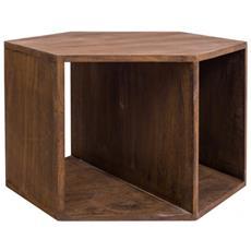 Tavolo Esagonale Tavolino Esagonale Legno Marrone Urban Ingresso
