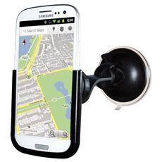 *Puro Supporto Auto Con Staffa Orientabil E Vetro Per Samsung Galaxy S Iii