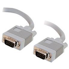 Cavo Video C2G Premium 81088 - for Monitor - Schermato - 1 Pacco - 1 x HD-15 Maschio VGA - 1 x HD-15 Maschio VGA - Grigio