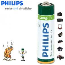 Pack Da 16 Stilo Philips Long Life Formato Aa R6 1.5v Zinco Carbone Confezione Risparmio