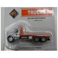 4013-79 Camion 3 Assi White Cassone Piatto Modellino