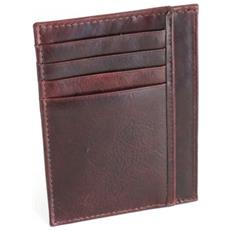 Portacarte Di Credito E Portadocumenti In Pelle Marrone Scuro