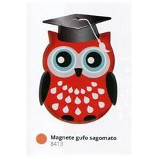 Bomboniere Laurea Personalizzata Pergamena Magnete Gufo Sagomato Pvc +confezione