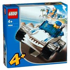 4666 1 Auto Della Polizia 1 Poliziotto 4+ Anni Confezione Originale