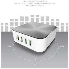Caricabatterie Da Scrivania Tavolo 8 Porte Usb Plug 10a A8101 Carica Batterie Alimentatore Per Ios Android