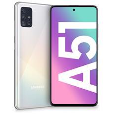 "Galaxy A51 Bianco 128 GB 4G / LTE Dual Sim Display 6.5"" Full HD+ Slot Micro SD Quadrupla Fotocamera Android Italia"
