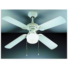 7062B Ventilatore da Soffitto 4 Pale Diametro 105 cm Kit Luce Colore Bianco