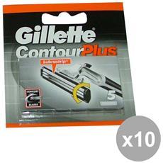 Set 10 Contour Plus Solo Ricarica X 5 Pezzi Prodotti Per Rasatura