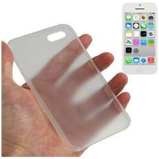 Custodia Ultra Sottile 0.3mm Per Iphone 5c Bianco Trasparente