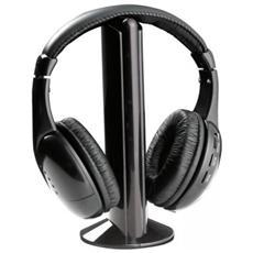 Cuffie Stereo Wireless Con Microfono E Ricevitore Radio Fm