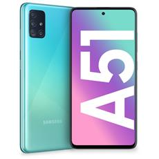"Galaxy A51 Blu 128 GB 4G / LTE Dual Sim Display 6.5"" Full HD+ Slot Micro SD Quadrupla Fotocamera Android Italia"